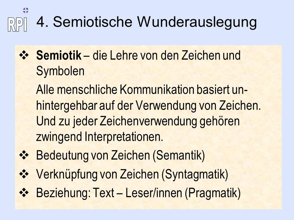 4. Semiotische Wunderauslegung