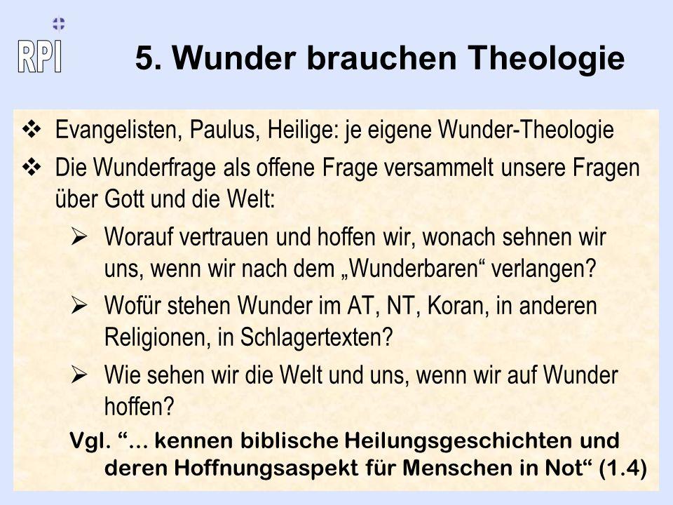 5. Wunder brauchen Theologie