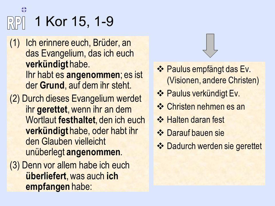 1 Kor 15, 1-9