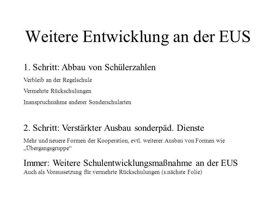 Weitere Entwicklung an der EUS