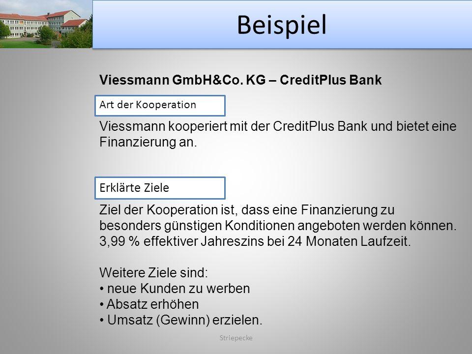 Beispiel Viessmann GmbH&Co. KG – CreditPlus Bank