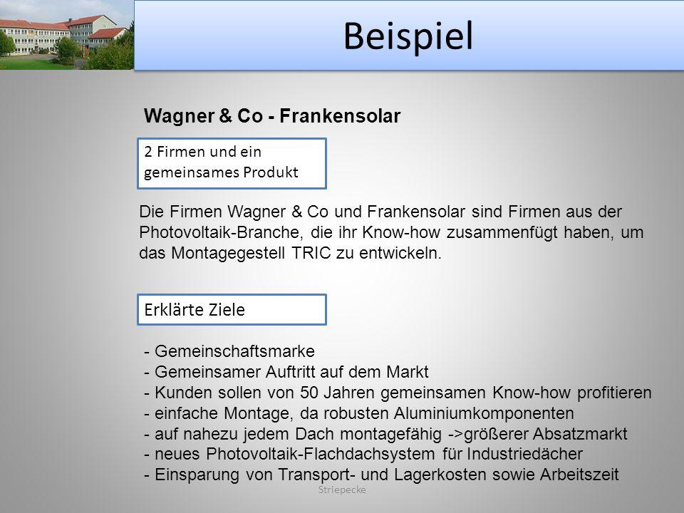 Beispiel Wagner & Co - Frankensolar Erklärte Ziele