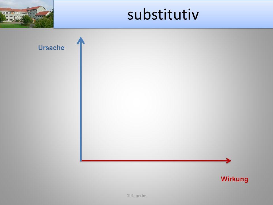 substitutiv Ursache Wirkung Striepecke