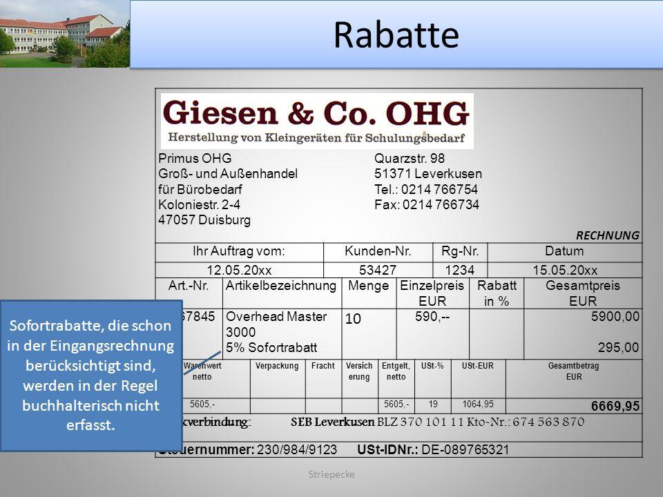 Rabatte Primus OHG Quarzstr. 98. Groß- und Außenhandel 51371 Leverkusen. für Bürobedarf Tel.: 0214 766754.