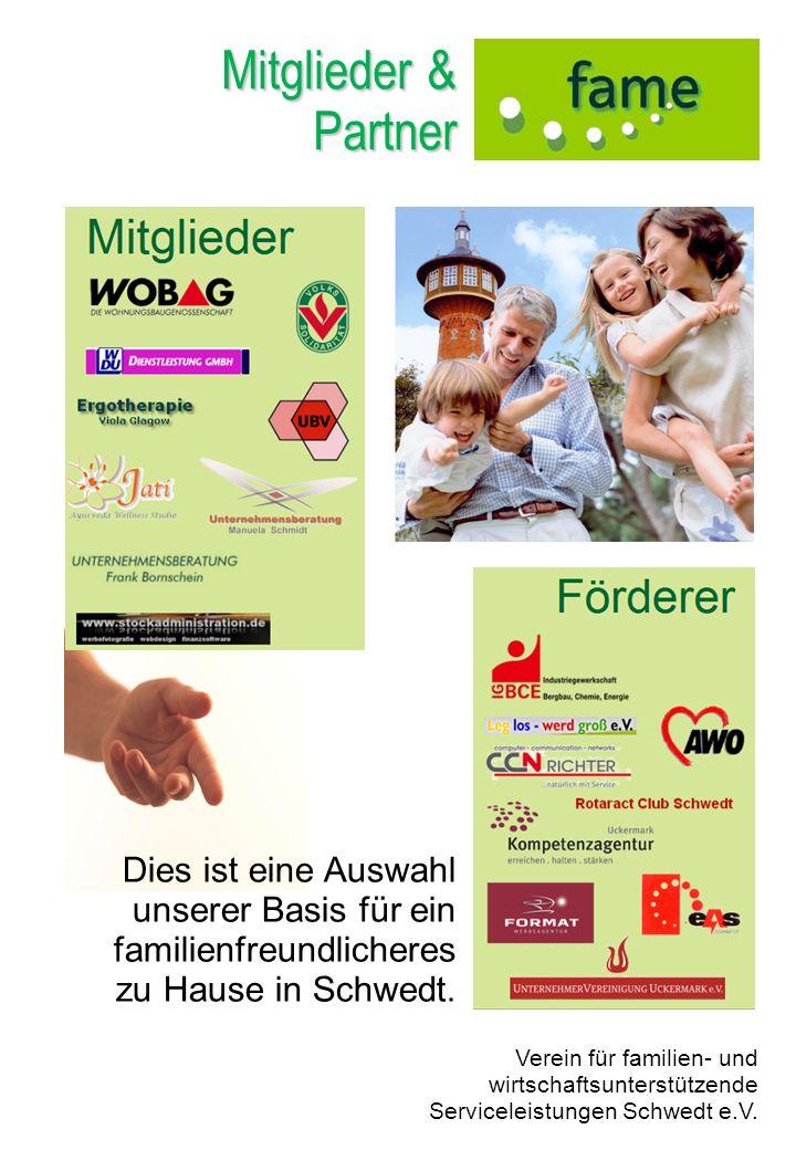 Mitglieder & Partner. Dies ist eine Auswahl unserer Basis für ein familienfreundlicheres. zu Hause in Schwedt.
