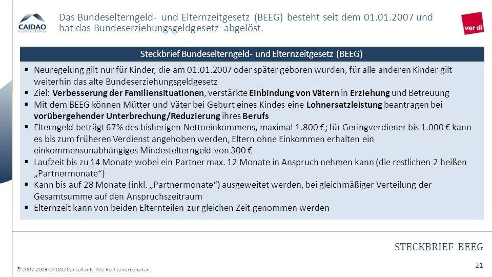 Steckbrief Bundeselterngeld- und Elternzeitgesetz (BEEG)