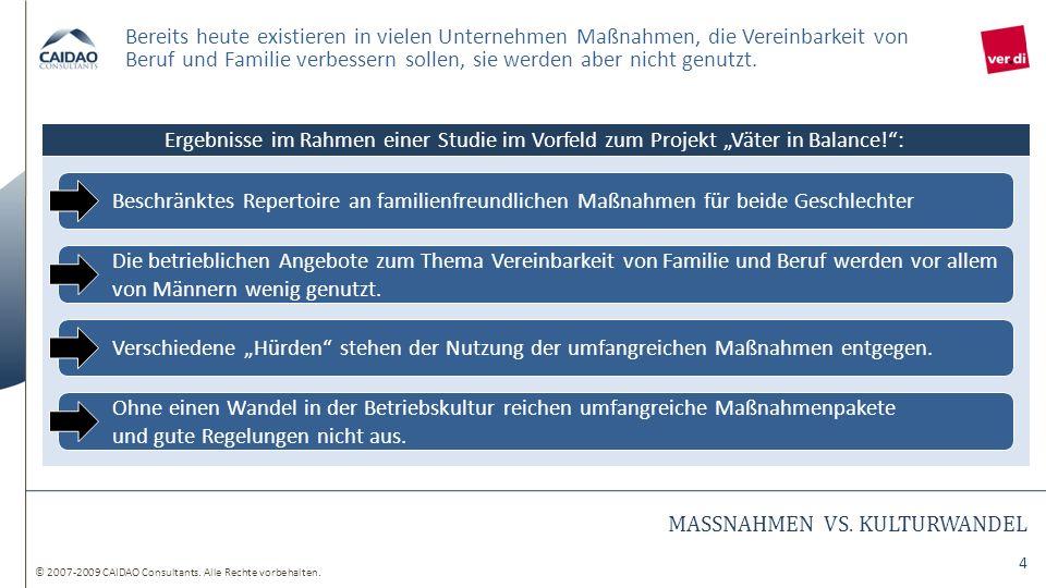 MASSNAHMEN VS. KULTURWANDEL