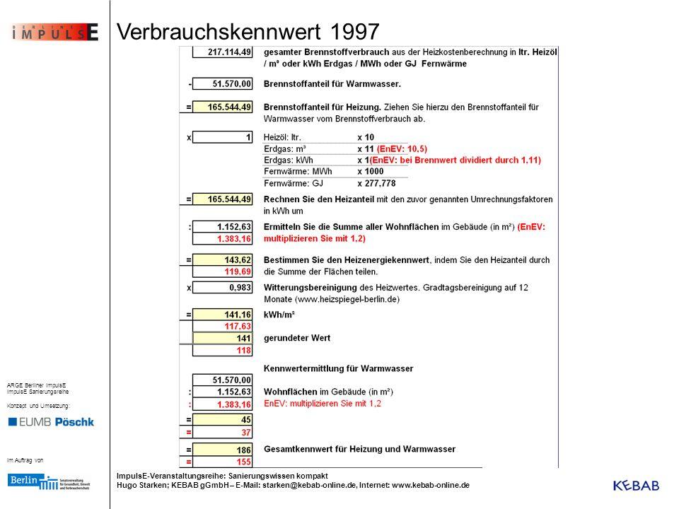 Verbrauchskennwert 1997