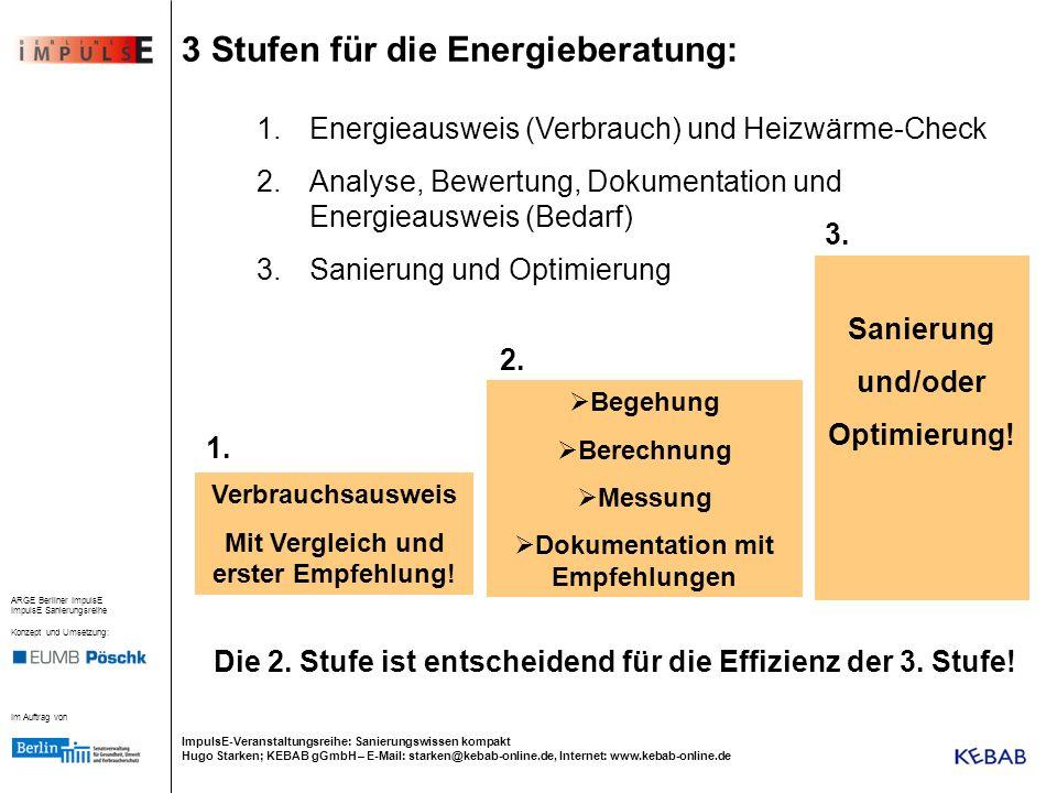 3 Stufen für die Energieberatung: