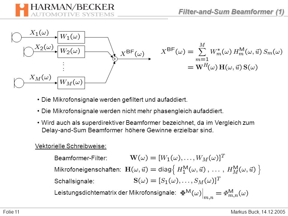 Filter-and-Sum Beamformer (1)