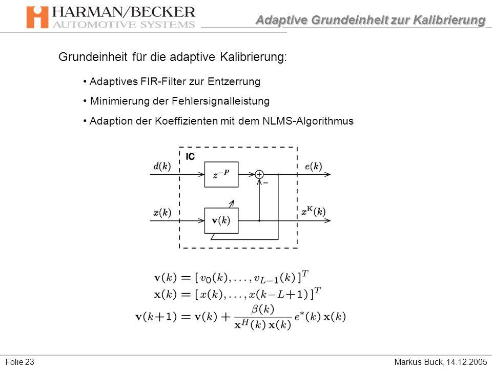 Adaptive Grundeinheit zur Kalibrierung