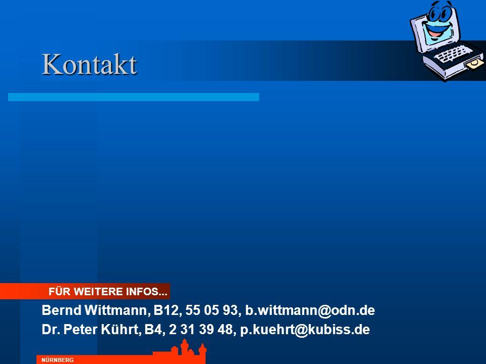 Kontakt Bernd Wittmann, B12, 55 05 93, b.wittmann@odn.de