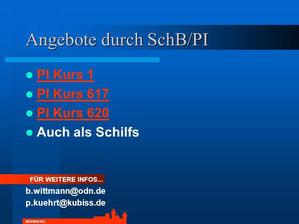 Angebote durch SchB/PI