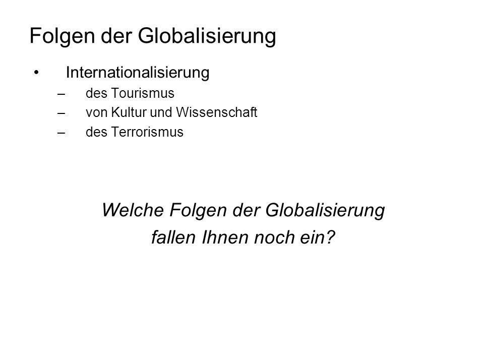 Folgen der Globalisierung