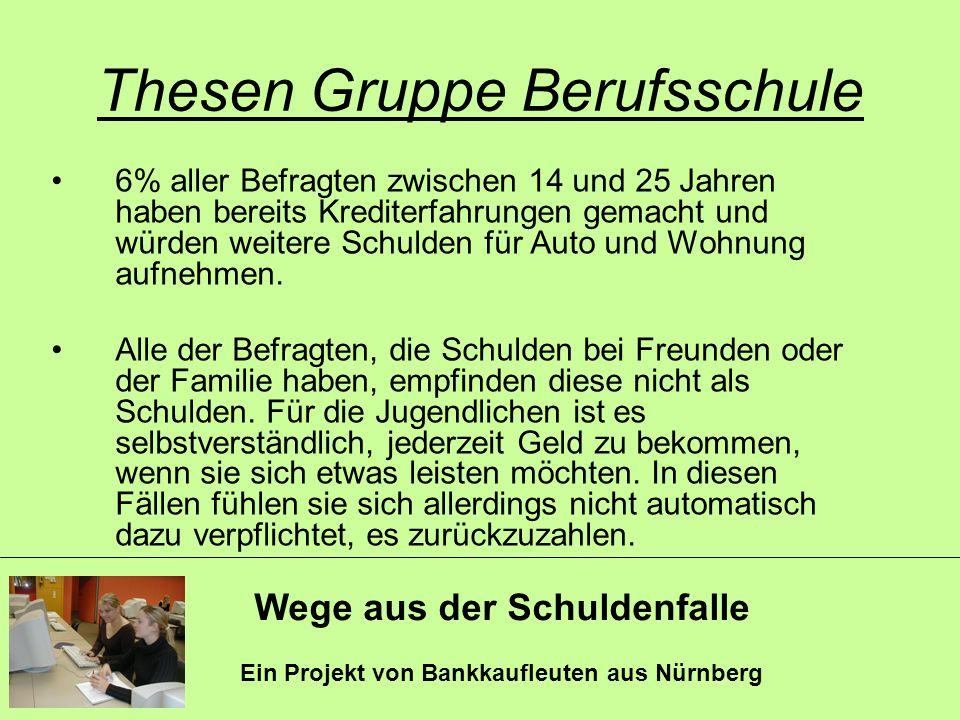 Thesen Gruppe Berufsschule