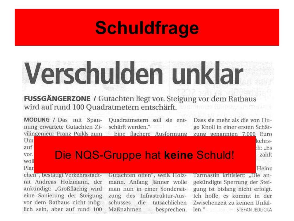 Die NQS-Gruppe hat keine Schuld!