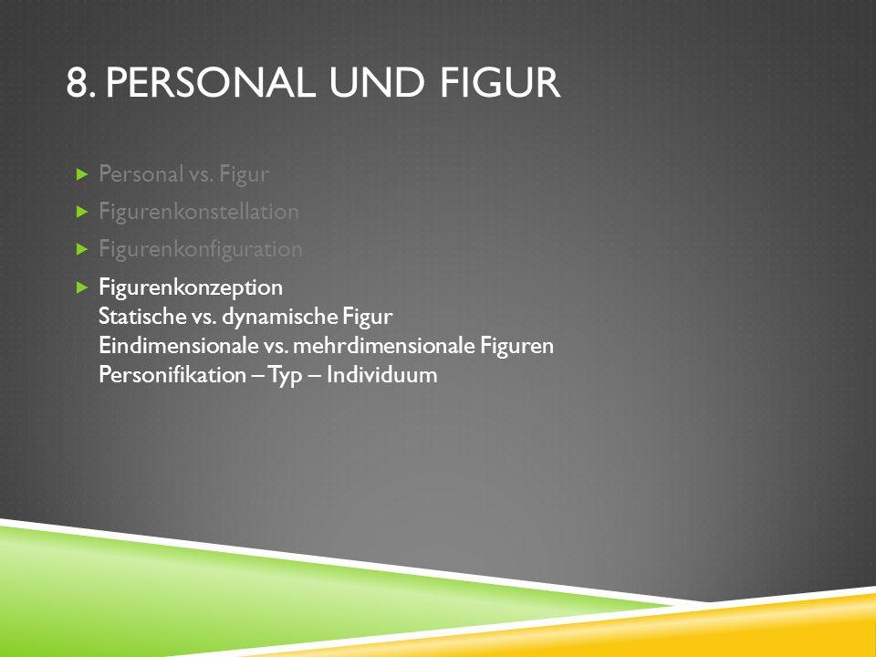 8. Personal und Figur Personal vs. Figur Figurenkonstellation