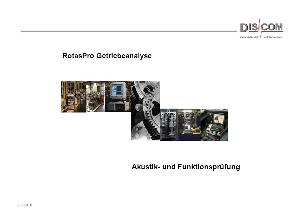 RotasPro Getriebeanalyse