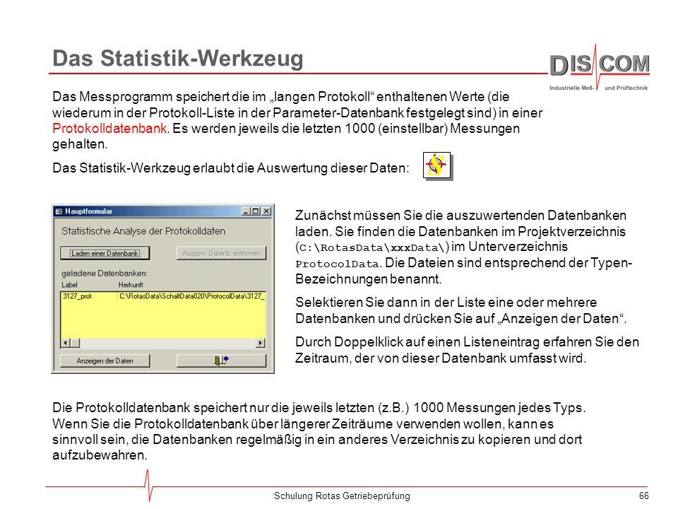 Das Statistik-Werkzeug