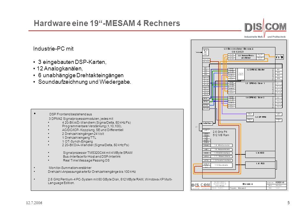 Hardware eine 19 -MESAM 4 Rechners