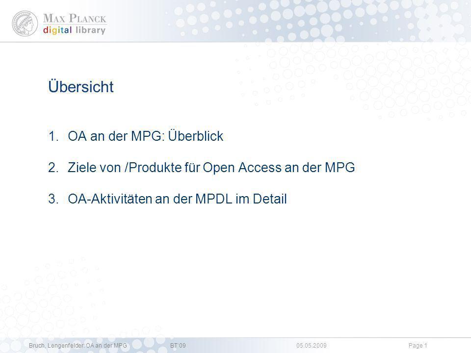 Übersicht OA an der MPG: Überblick