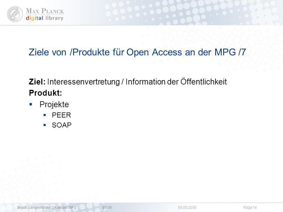 Ziele von /Produkte für Open Access an der MPG /7
