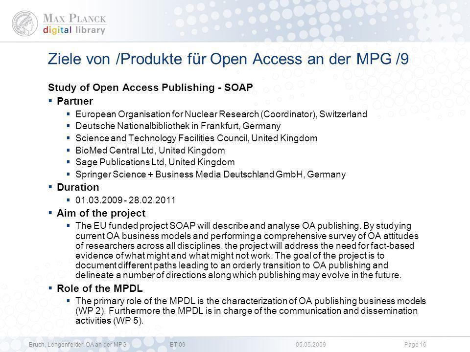 Ziele von /Produkte für Open Access an der MPG /9