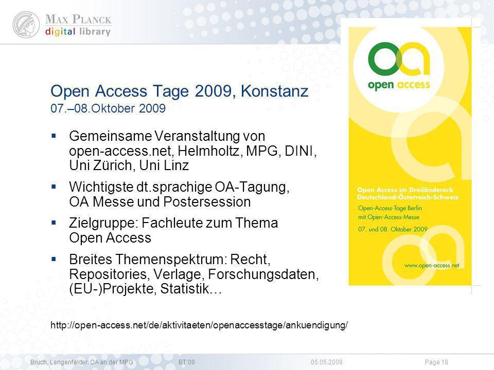 Open Access Tage 2009, Konstanz 07.–08.Oktober 2009