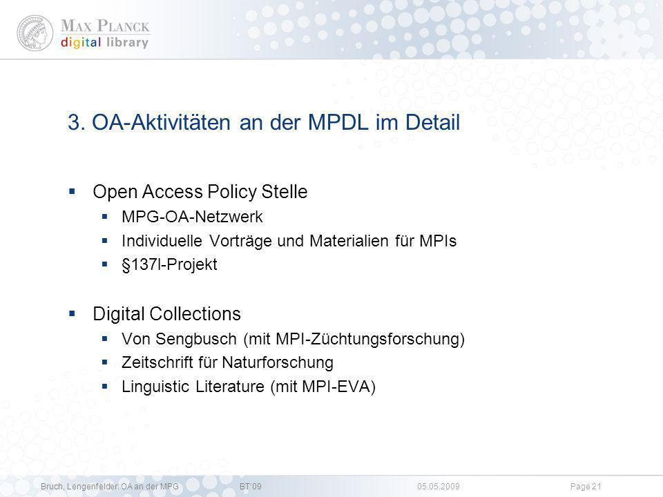 3. OA-Aktivitäten an der MPDL im Detail