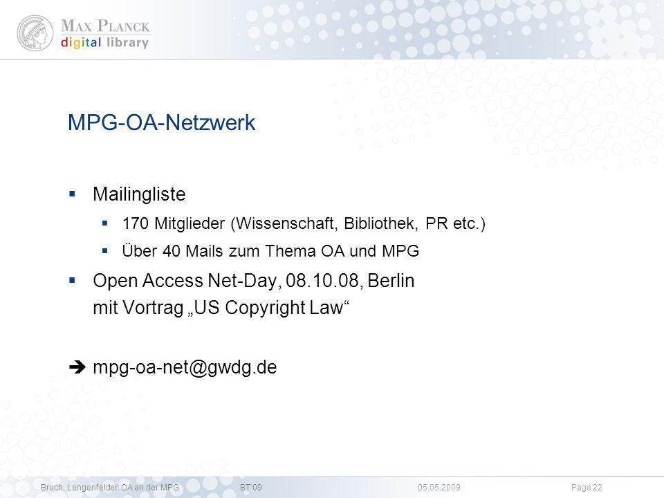 MPG-OA-Netzwerk Mailingliste