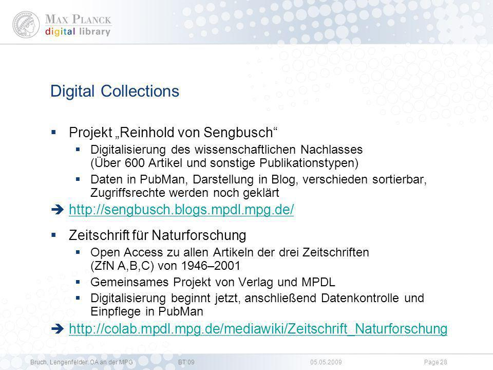 "Digital Collections Projekt ""Reinhold von Sengbusch"