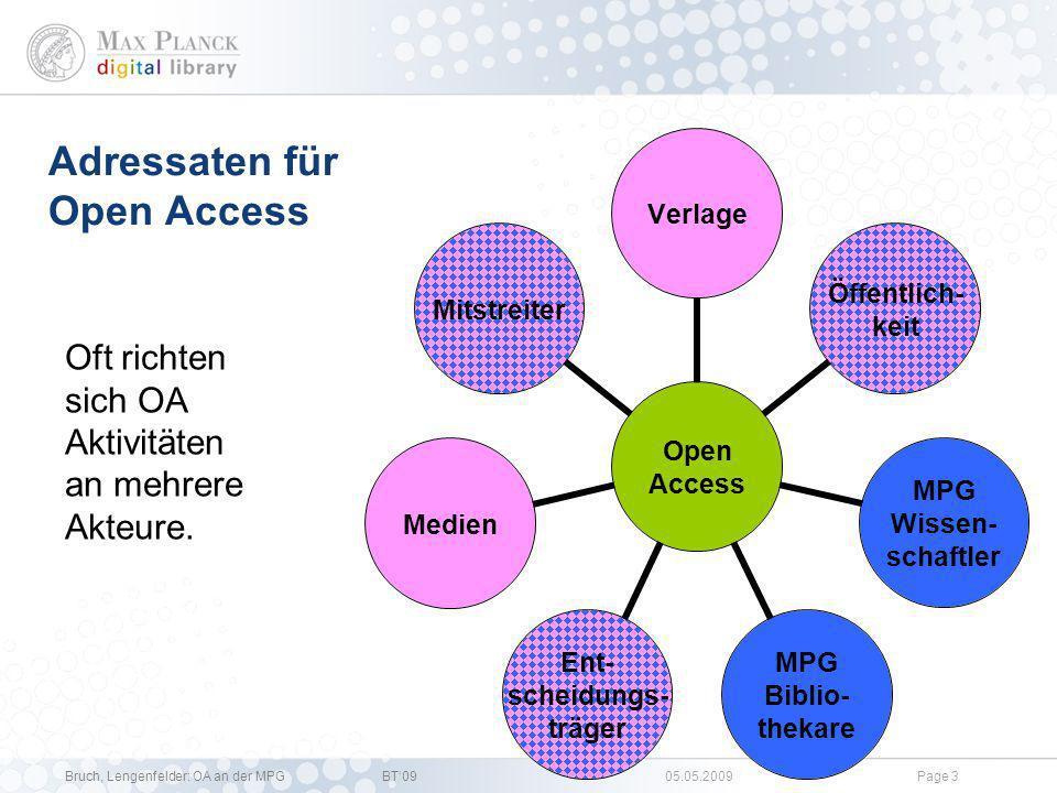 Adressaten für Open Access