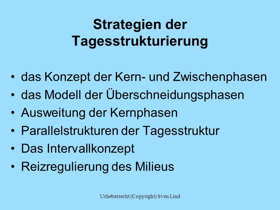 Strategien der Tagesstrukturierung