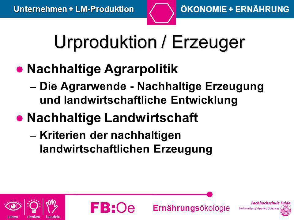 Urproduktion / Erzeuger