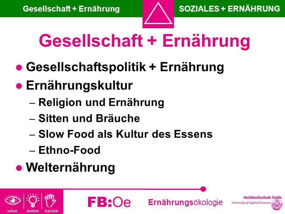 Gesellschaft + Ernährung