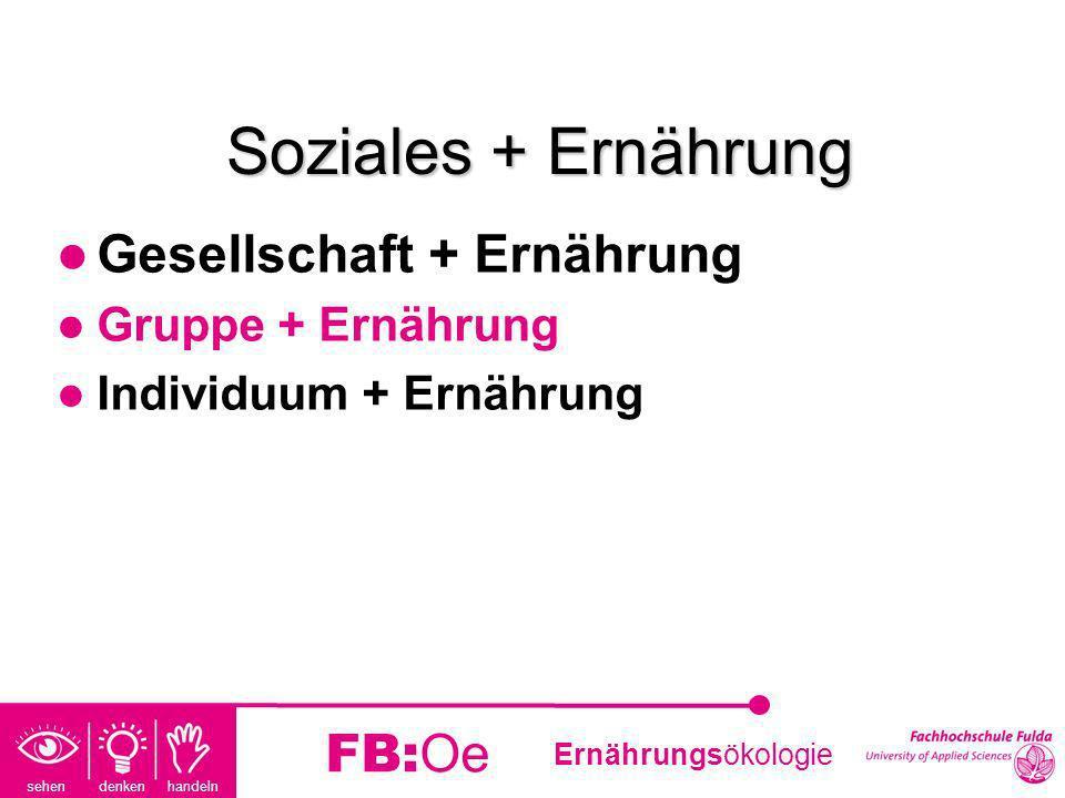 Soziales + Ernährung Gesellschaft + Ernährung FB:Oe Gruppe + Ernährung