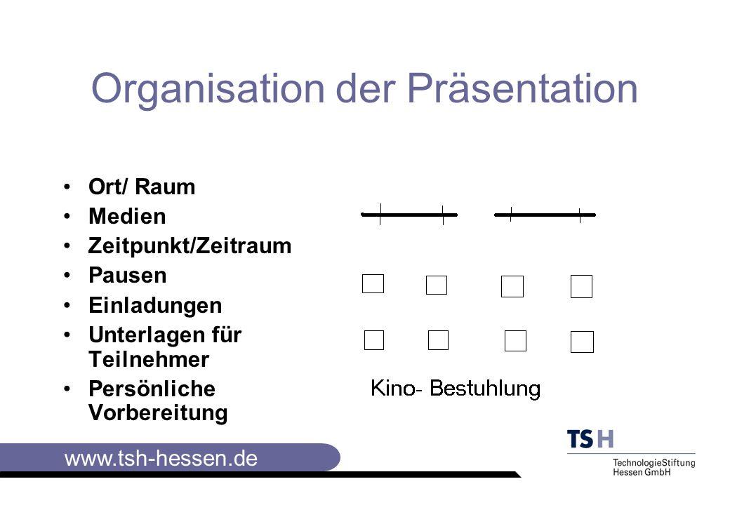 Organisation der Präsentation