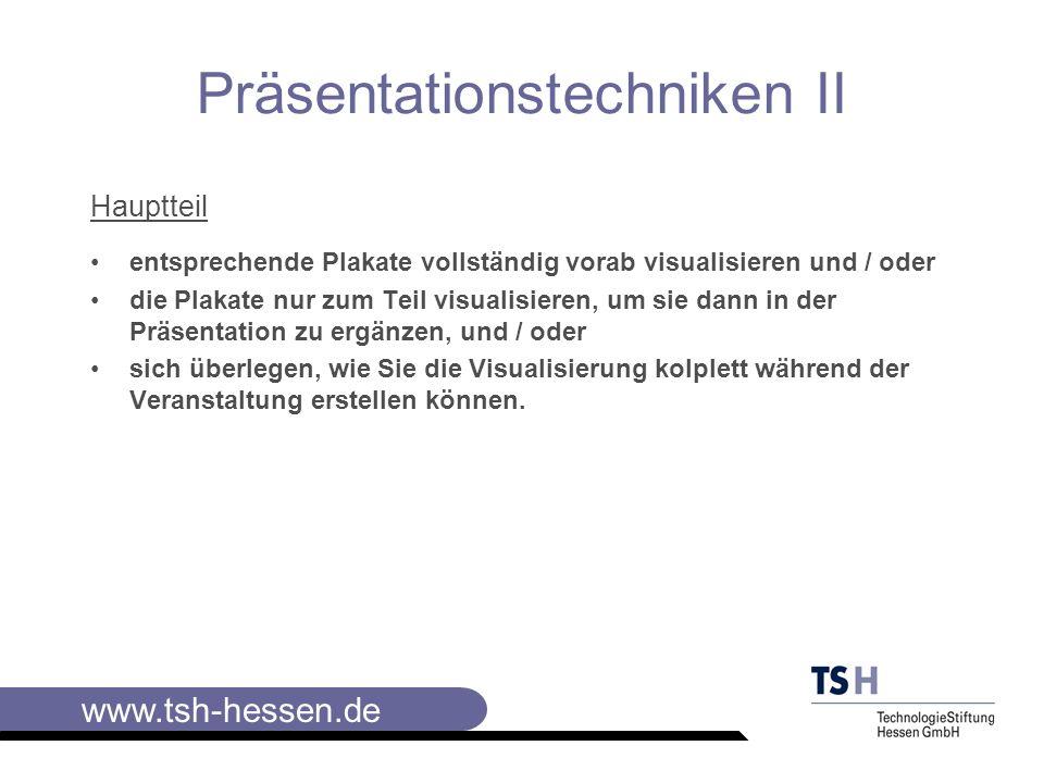 Präsentationstechniken II