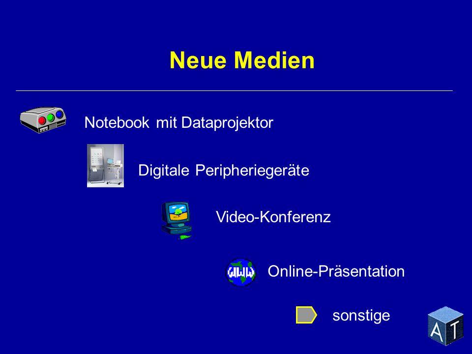 Neue Medien Notebook mit Dataprojektor Digitale Peripheriegeräte