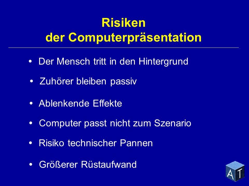 Risiken der Computerpräsentation