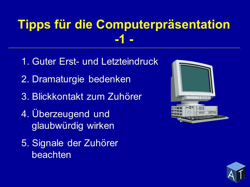 Tipps für die Computerpräsentation -1 -