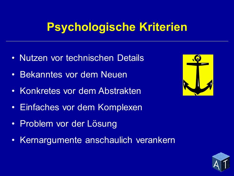 Psychologische Kriterien