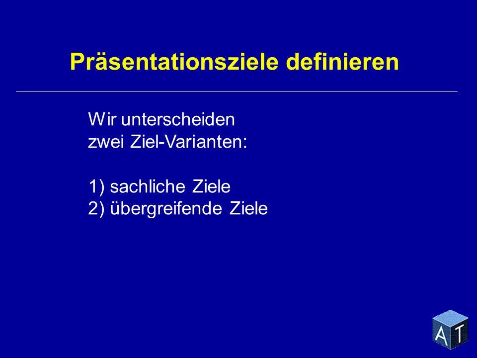 Präsentationsziele definieren