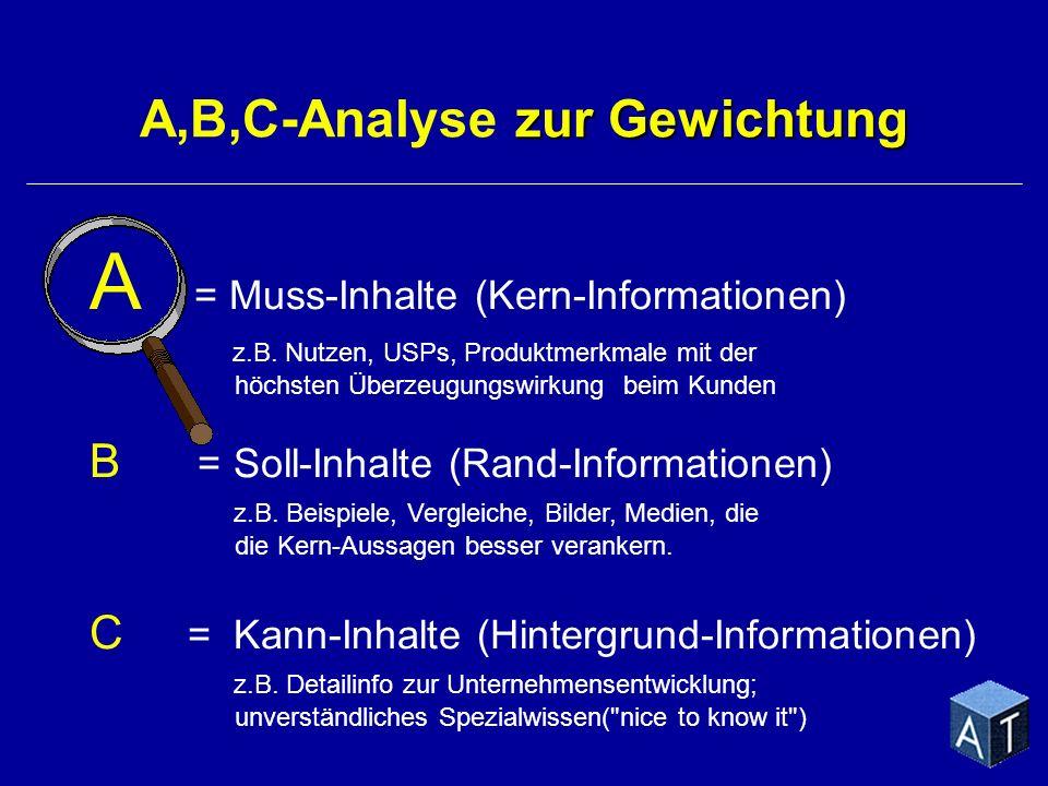 A,B,C-Analyse zur Gewichtung