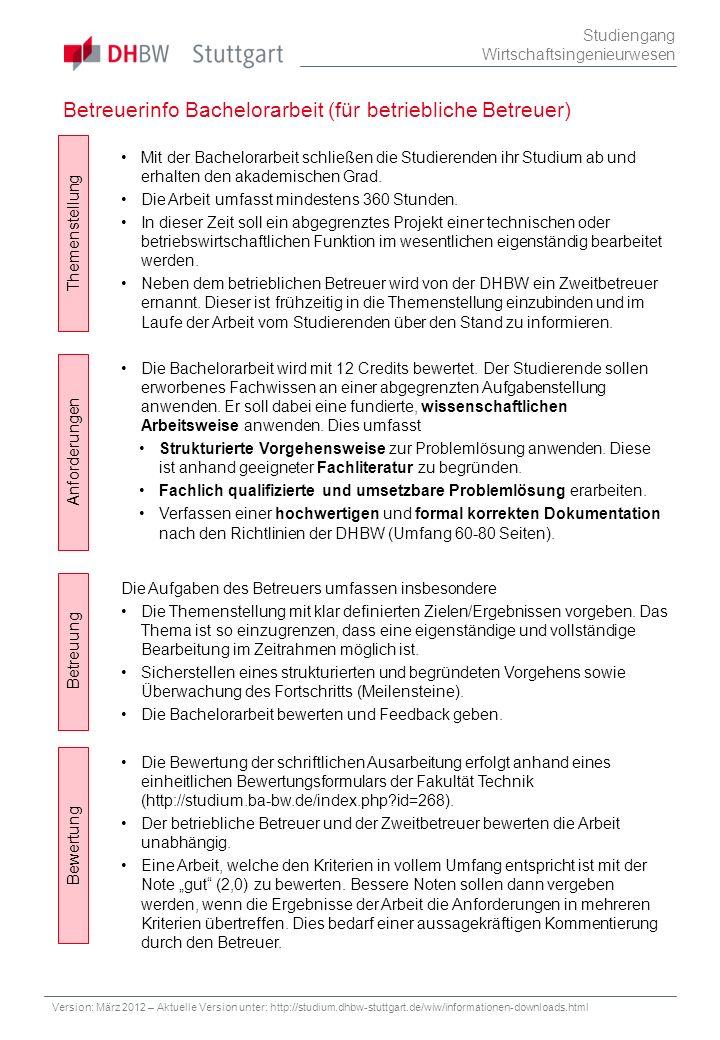 Betreuerinfo Bachelorarbeit (für betriebliche Betreuer)