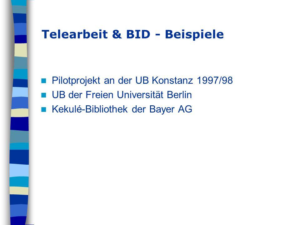 Telearbeit & BID - Beispiele
