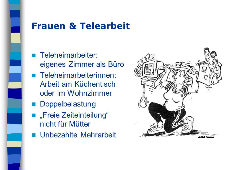Frauen & Telearbeit Teleheimarbeiter: eigenes Zimmer als Büro
