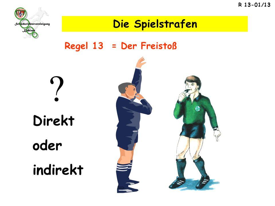 Direkt oder indirekt Die Spielstrafen Regel 13 = Der Freistoß