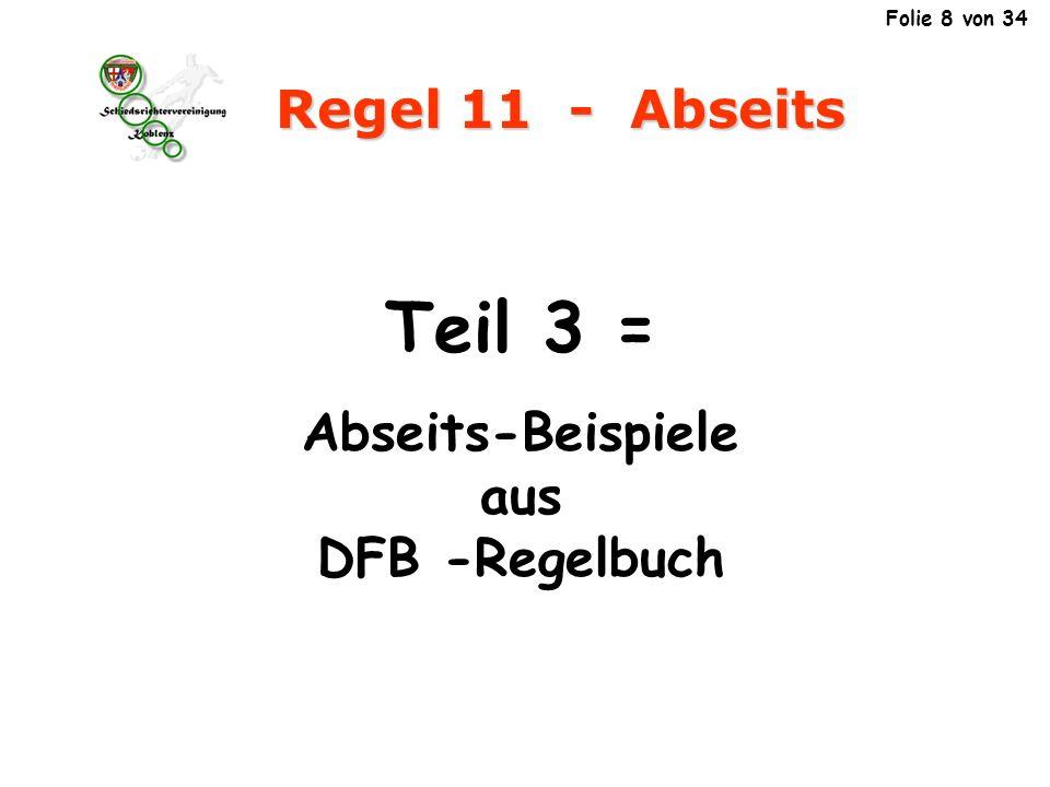 Abseits-Beispiele aus DFB -Regelbuch