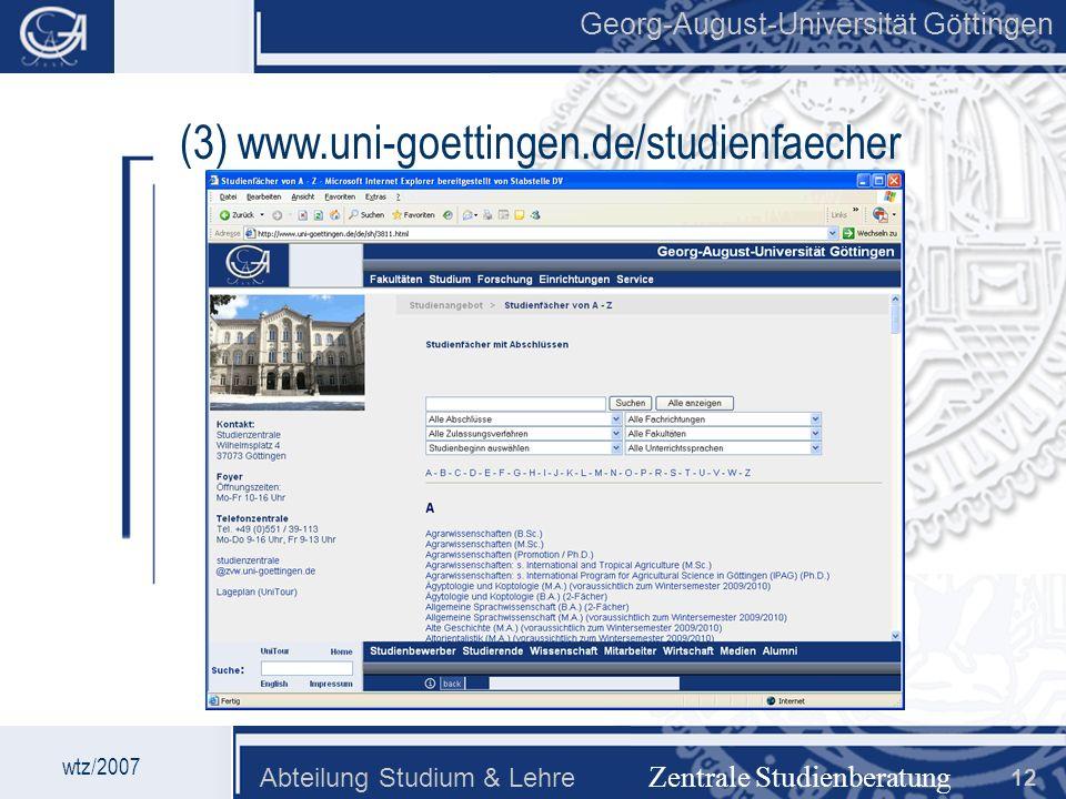 (3) www.uni-goettingen.de/studienfaecher